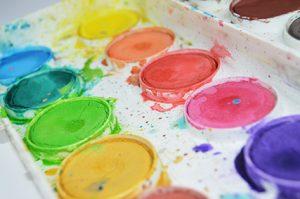 Palette peinture - atelier créatif