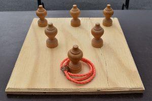 Creatoo - Location Jeux en bois - Lancer d'anneaux de table